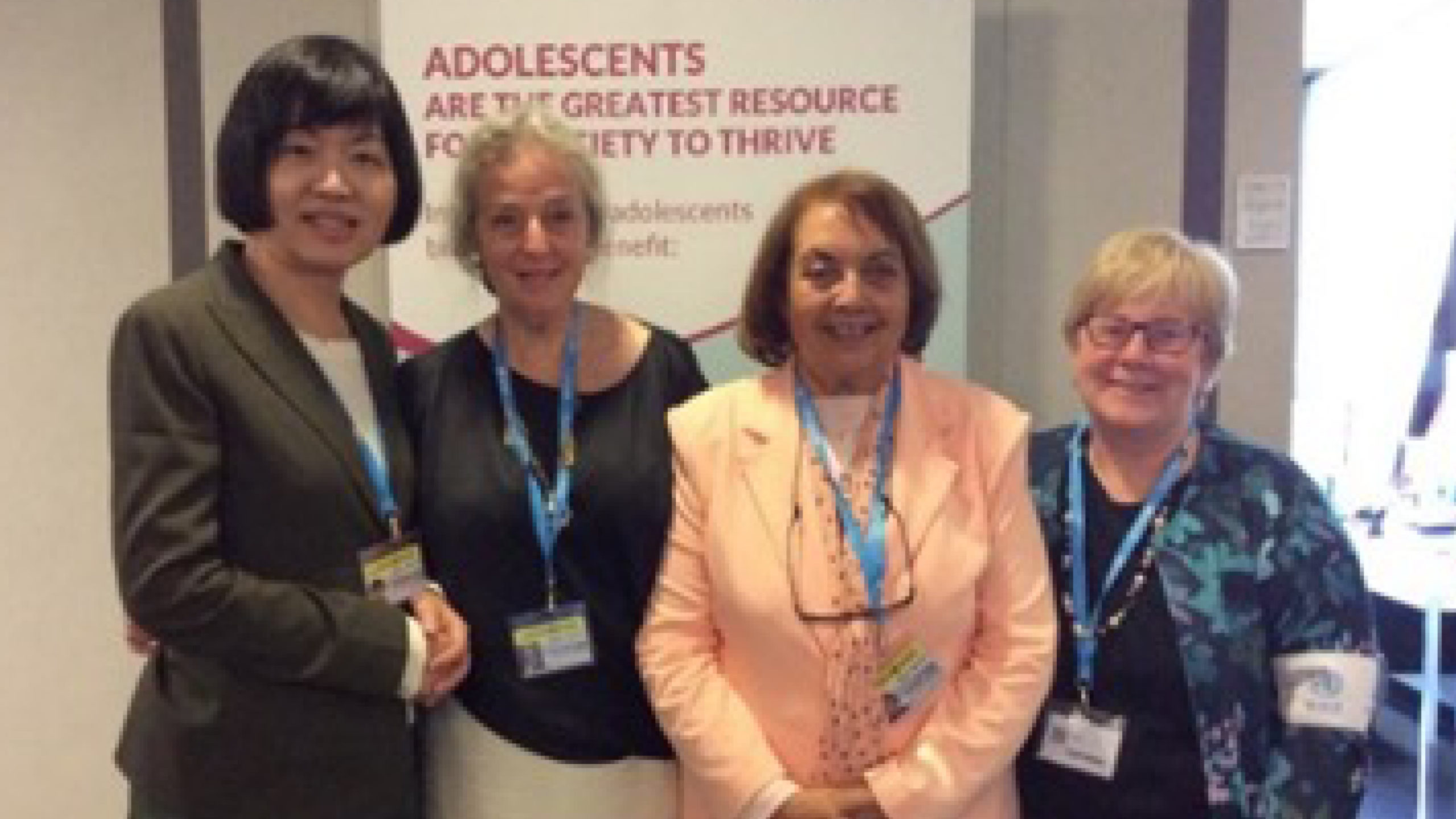 Drs Chuong-Huey Lai (Taiwan), Clarissa Fabre (UK), Shafika Nasser (Egypt) and Shelley Ross (Canada)