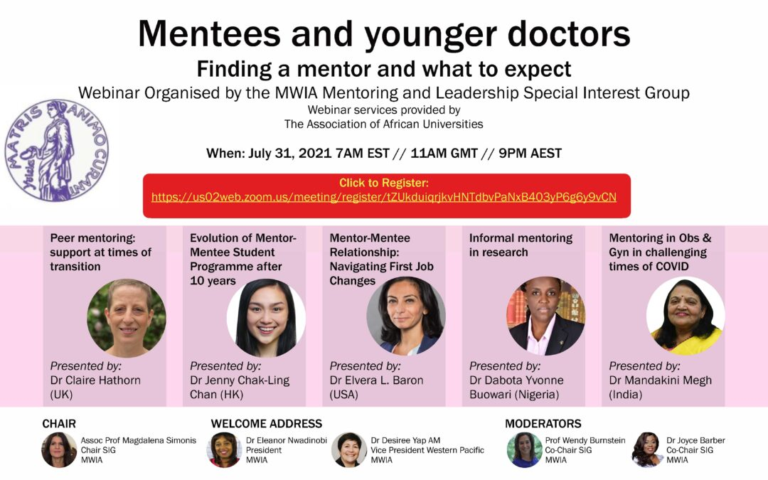 Mentees and younger doctors – finding a mentor and what to expect