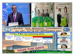 Address by WHO Director General Dr Tedros Adhanom on 74th WHA. Survival kits distribution by TMWA, CARC FLYER