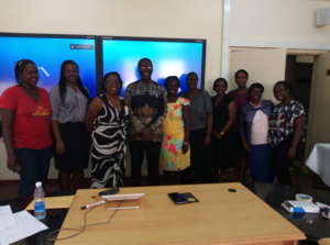 AUWMD executive committee with a guest trainer for Strategic planning.